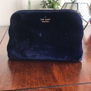 kate spade Bags - Velvet Kate Spade cosmetic bag